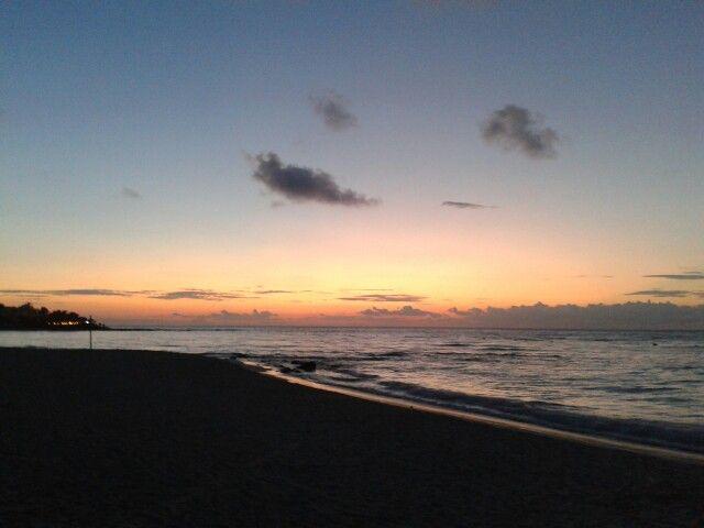 Un amanecer en la Riviera Maya, buenos días