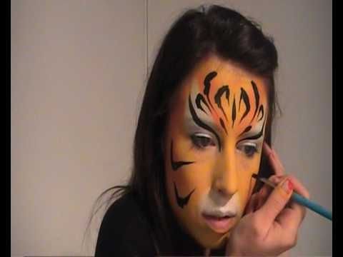 Tiger Face Painting Video Tutorial | Party Face Painting U2665 | Pinterest | Face Painting ...