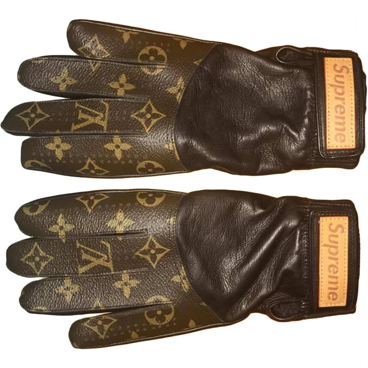 Louis Vuitton X Supreme Gloves