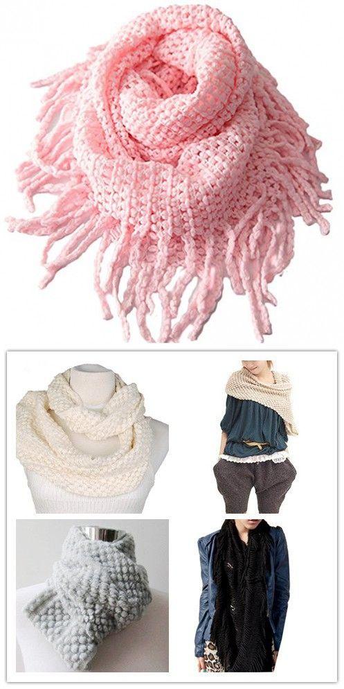 Photo of Tusong Winter Warmer Unisex Baby Kids Toddler Knit Tassels Shawl Scarf (Pink)