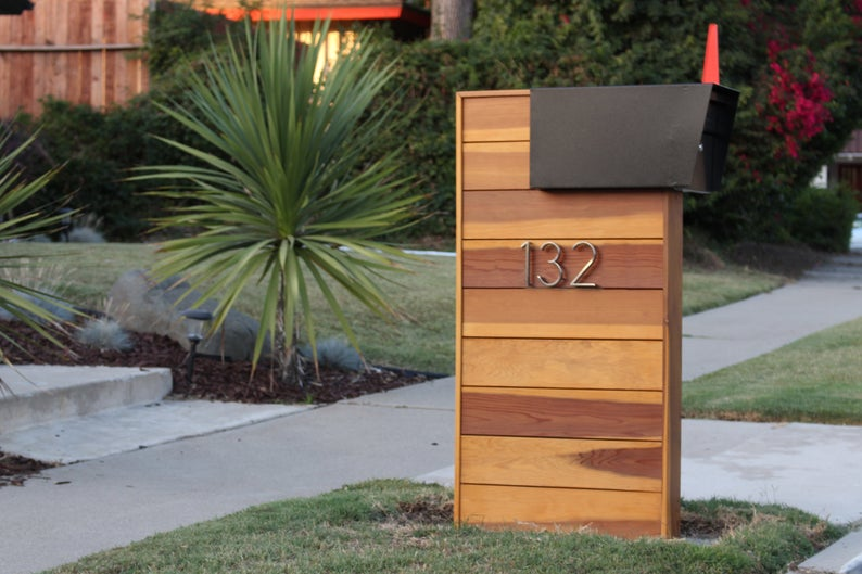 Mid Century Modern Mailbox Instructions Modern Mailbox Mid Century Modern Mailbox Beautiful Mailbox