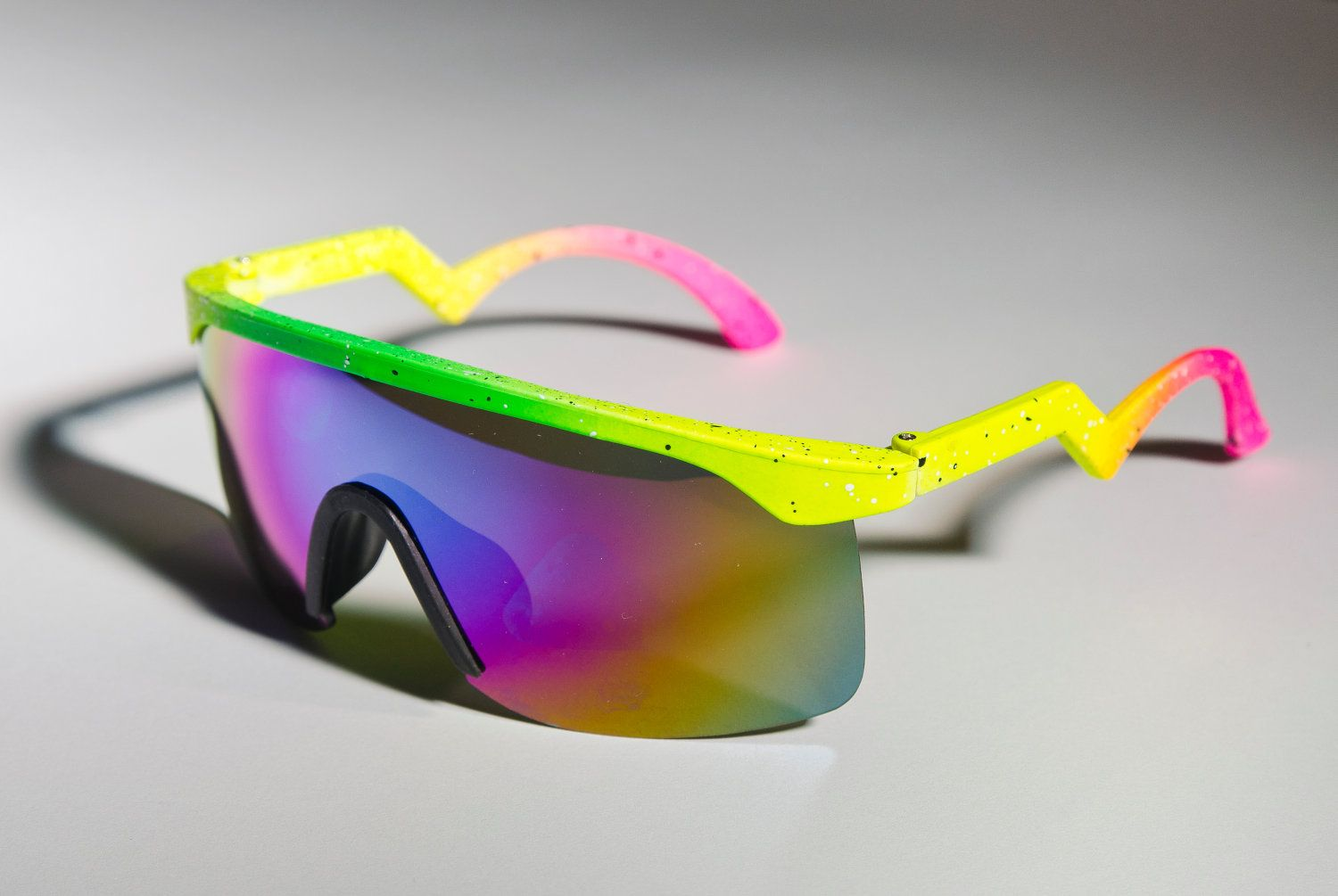 2fe2714423 Blaster Oakley Inspired Ski NEON Yellow Green Mirror 80s Sunglasses A60.   12.99