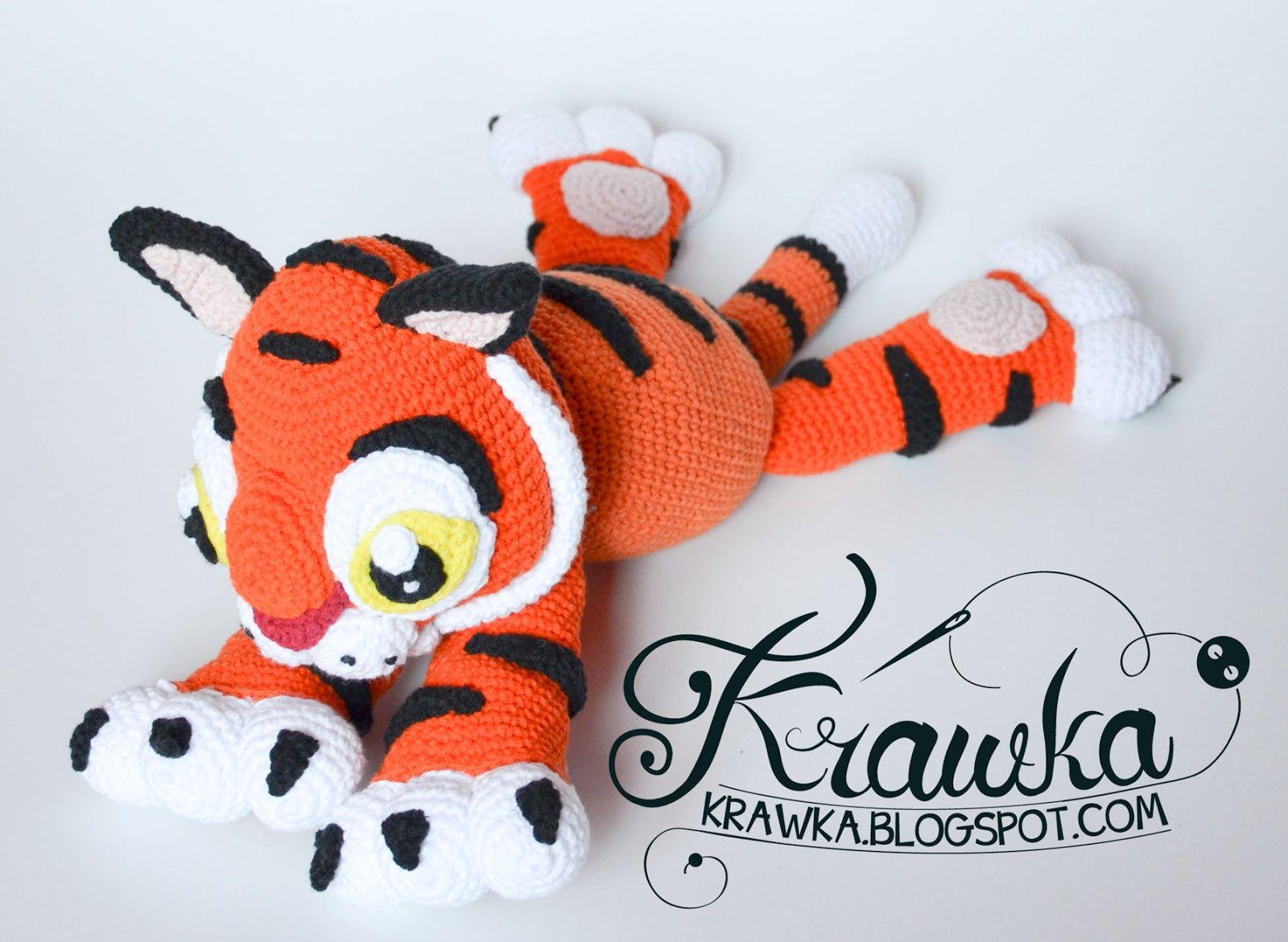 Free Amigurumi Disney Patterns : Krawka: baby tiger rajah crochet pattern inspired on tiger character