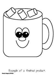 hot chocolate mug clipart. a hot chocolate craft-ivity templates! mug clipart