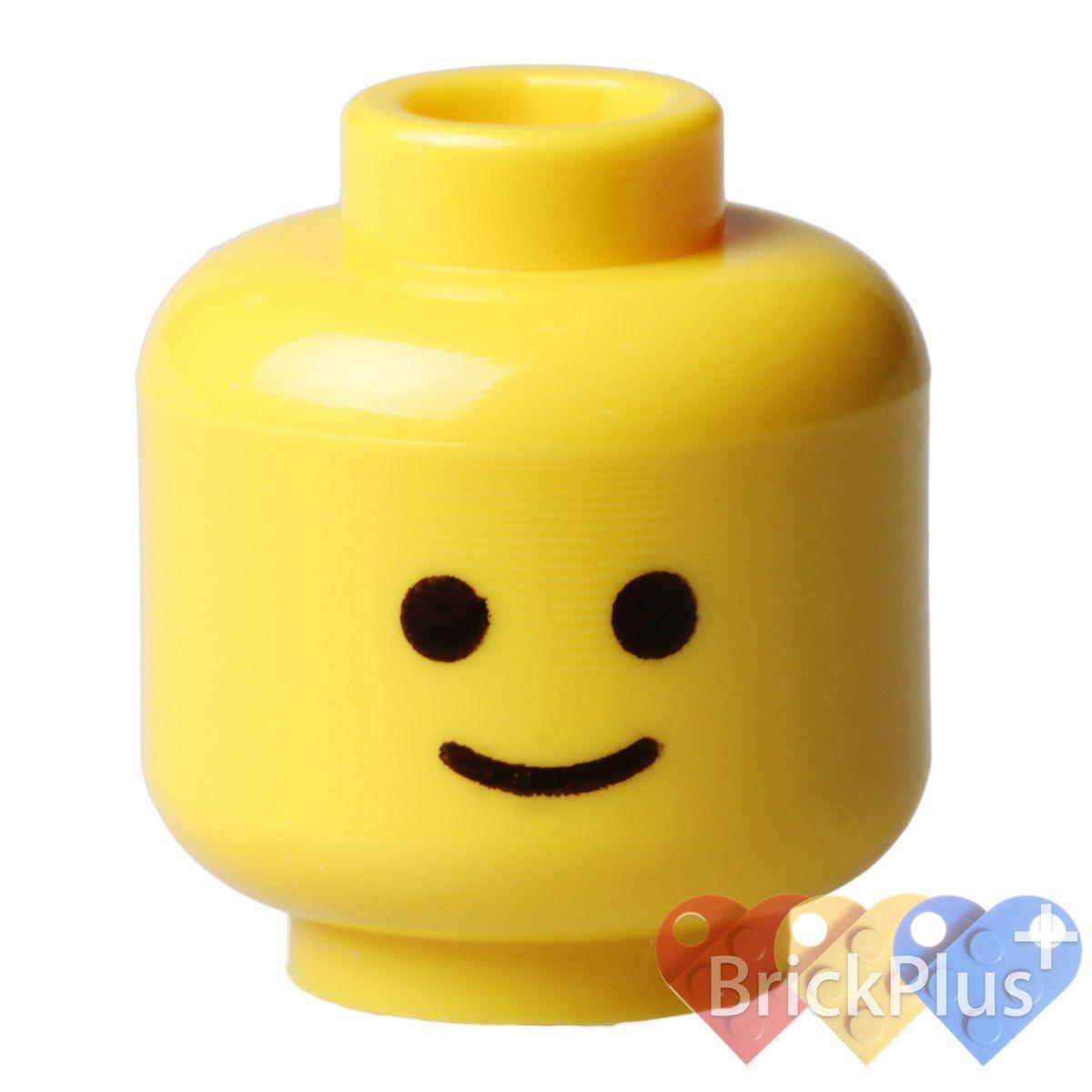 Star Wars//Batman NEW Lego DARK TAN MINIFIGURE HEAD Plain//Blank Minifig Head