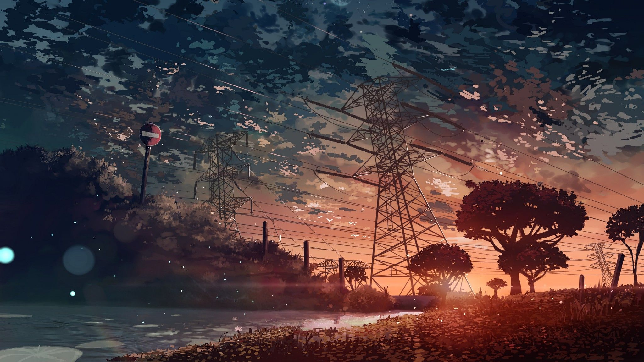 Anime Scenery Sunset 4k Fondos De Pantalla Paisajes Paisaje De Fantasia Ilustracion De Paisaje