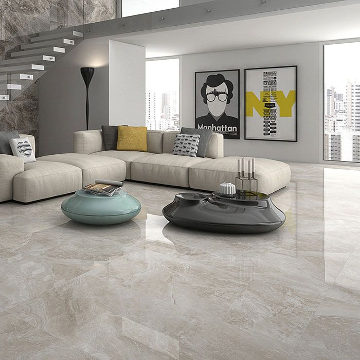 Catalan Ivory Porcelain Marble Effect Tiles Pp Opt Tile Floor