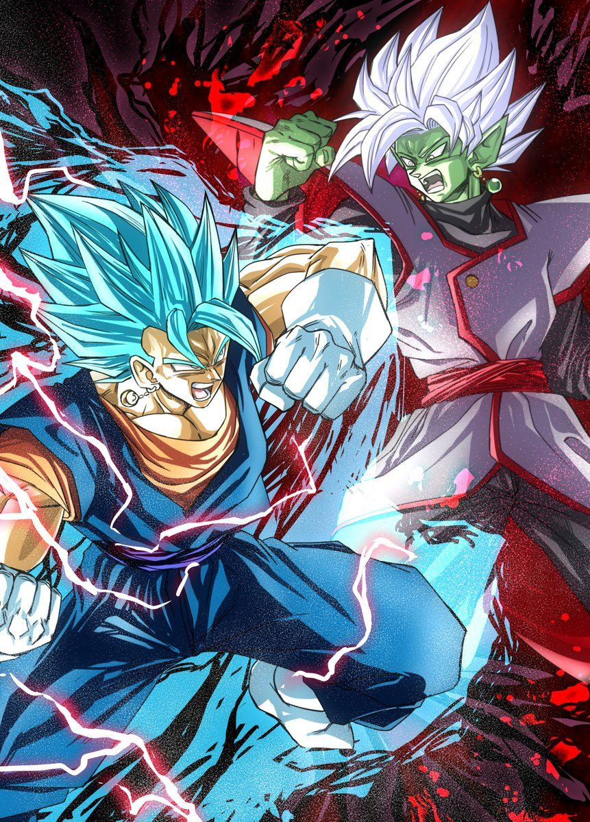 Vegetto Vs Zamasu Anime Dragon Ball Super Dragon Ball Super Goku Dragon Ball Artwork