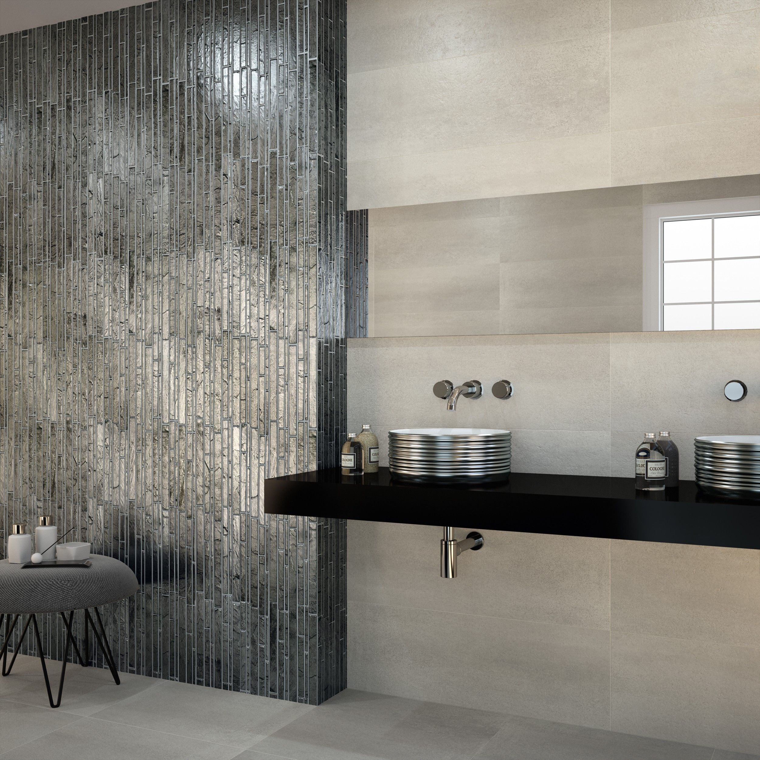"HIPSTER SMOKE 100,100x100,10 cm./1010.10""x3100.100"" - Wall tiling - Ceramics"