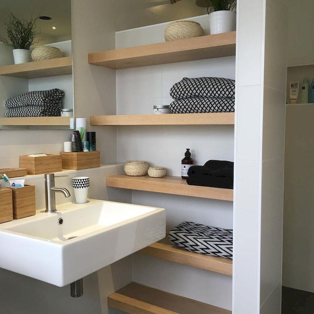 5 Gorgeous Scandinavian Bathroom Ideas: 30 Rustic Bathroom Shelves Storage Ideas