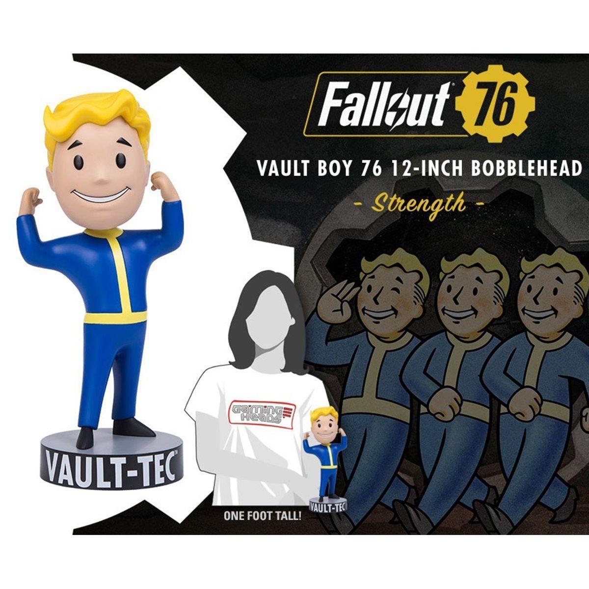 Fallout 76 Vault Boy Strength 12 Inch Vinyl Bobble Head Vault Boy Bobble Head Vinyl