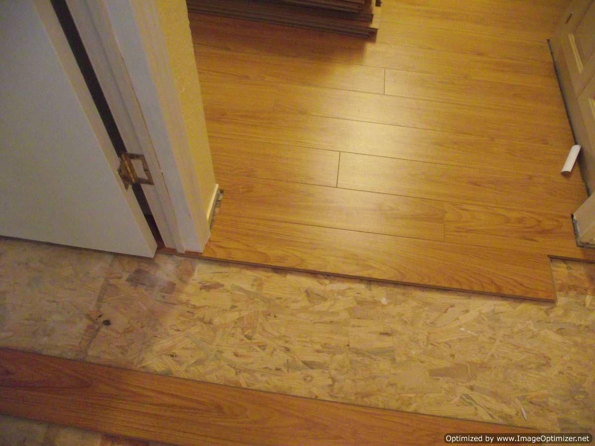 Laminate flooring fit under door jamb. AFTER Laminate