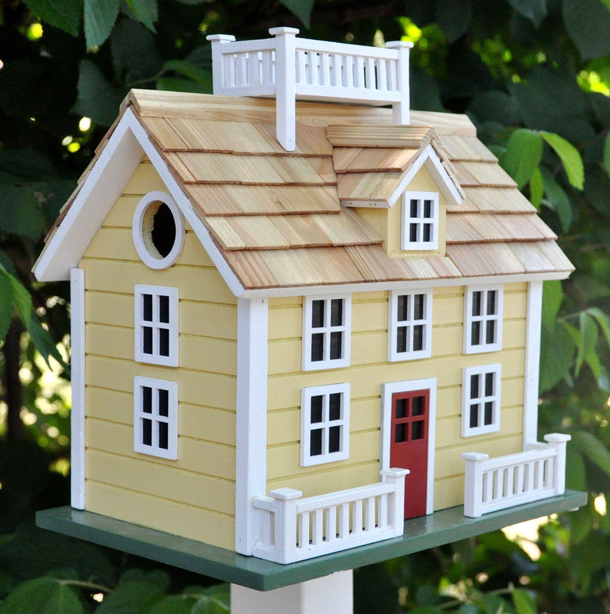 Sconset Cottage Birdhouse Bird houses, Bird house, Bird