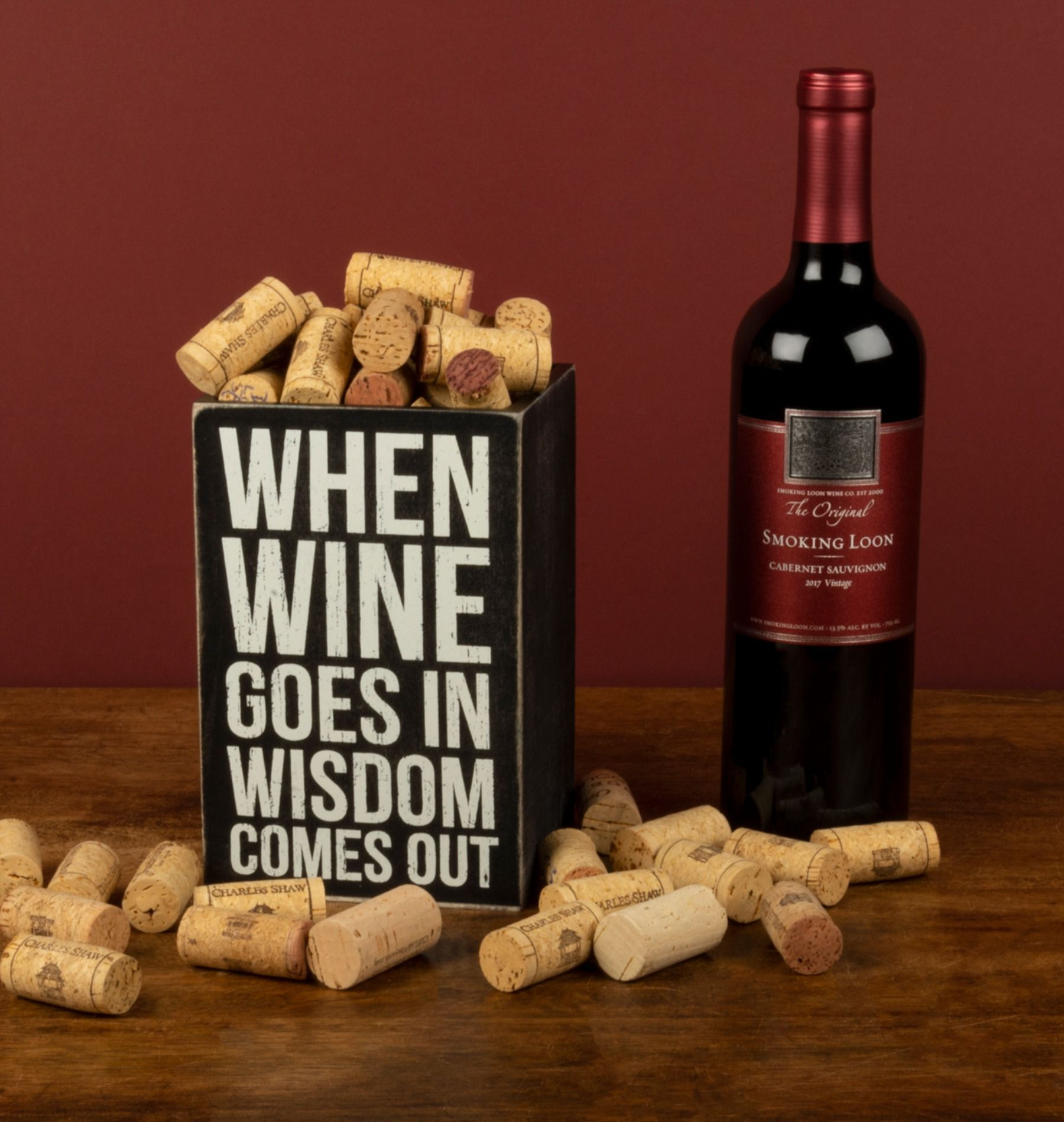 Single Wine Box When Wine Goes In Wisdom Comes In 2020 Wine Box Wine And Beer Wine Signs