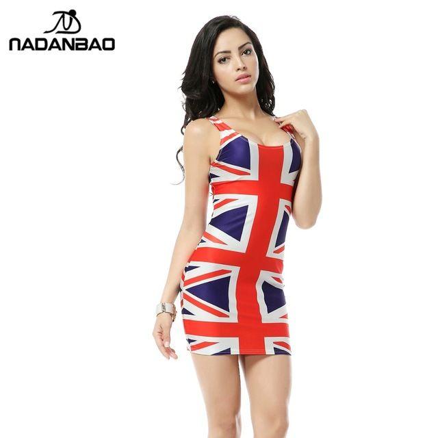 bandage dresses union jack flag dress digital print mini. Black Bedroom Furniture Sets. Home Design Ideas