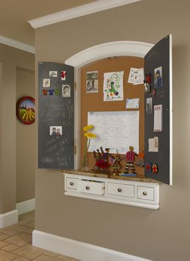 Make a custom message center for empty kitchen wall