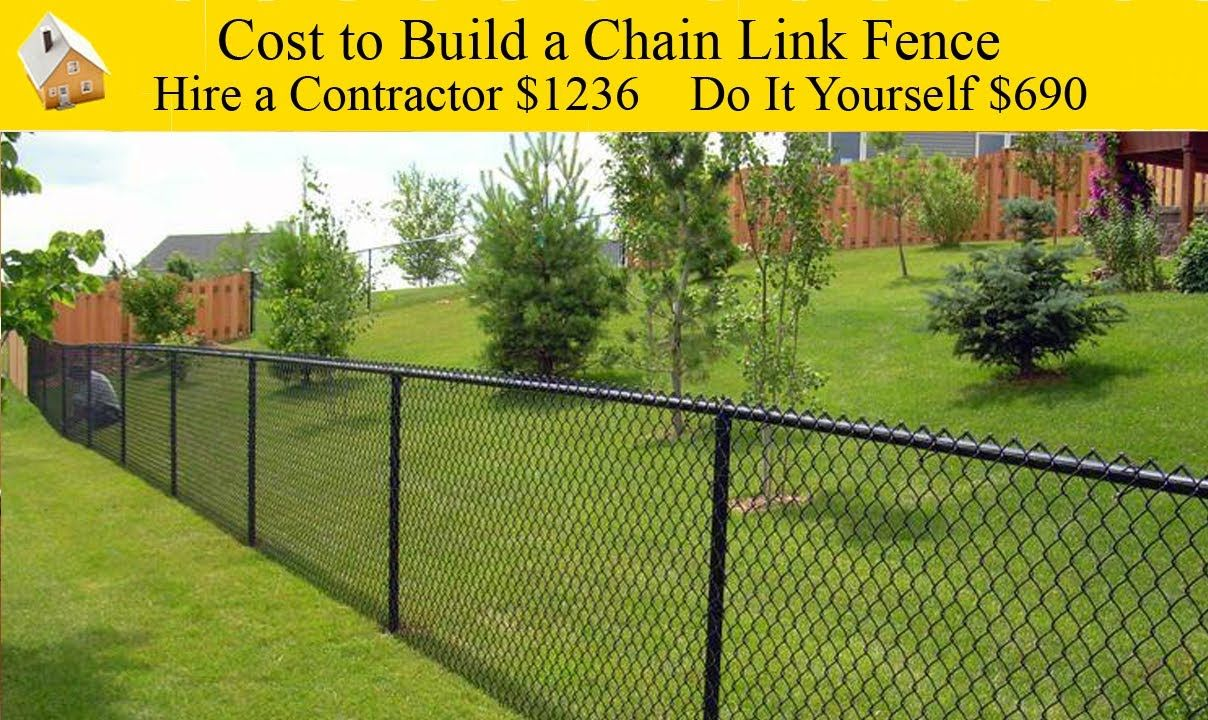 Diy cost to build a chain link fence the cost of building a chain