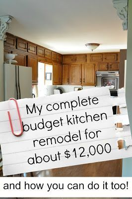 My complete kitchen remodel story for about $12,000.... - Jennifer Rizzo