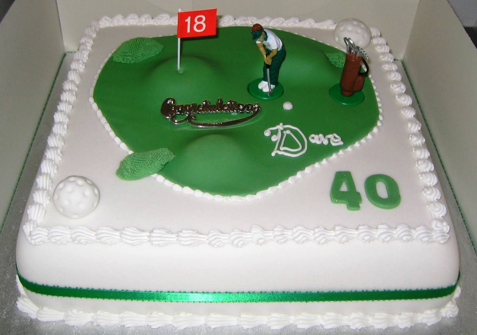 Golf Designs For Cakes
