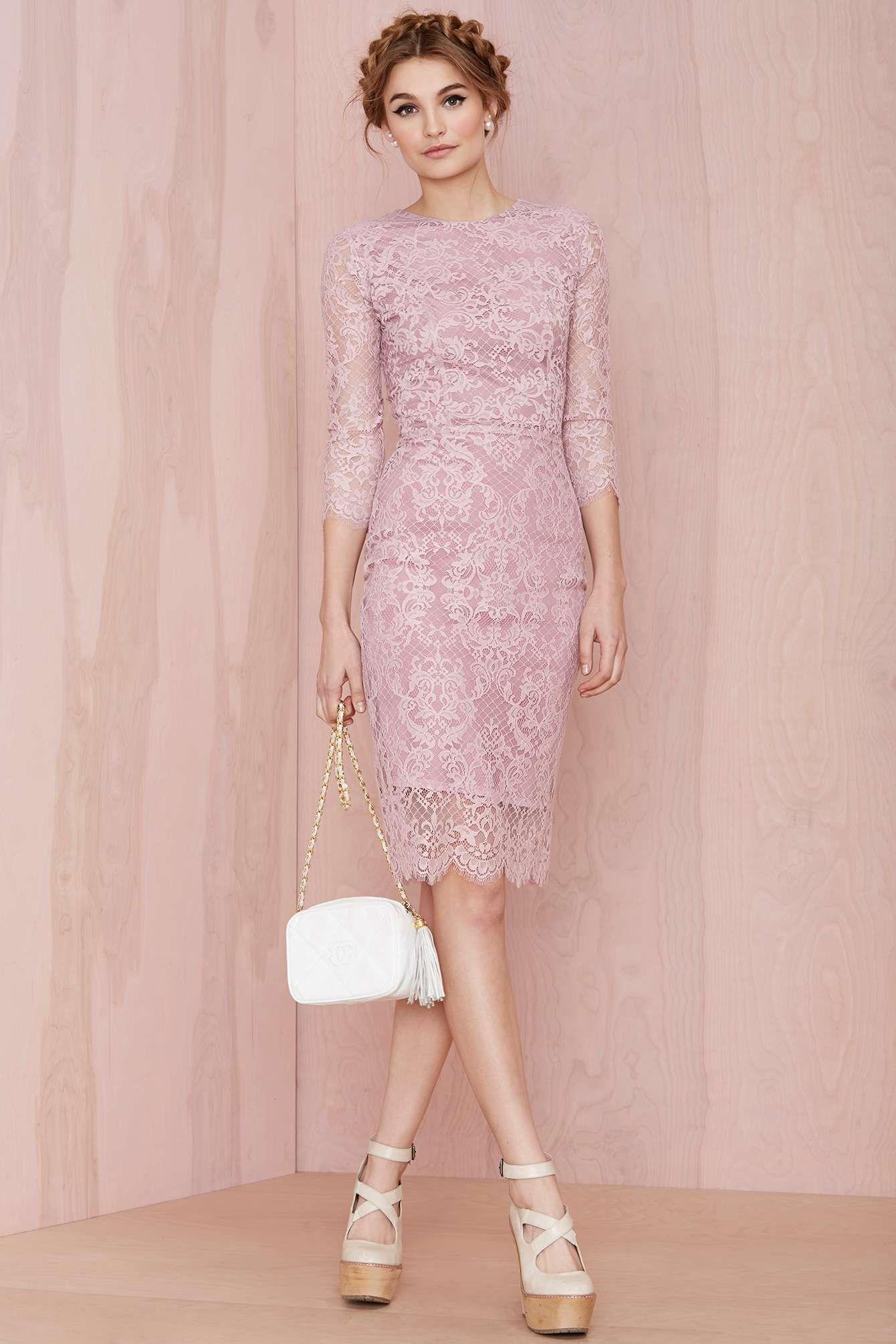 Pink Lace Dress   Cute outfits   Pinterest   Trajes de fiesta, La ...