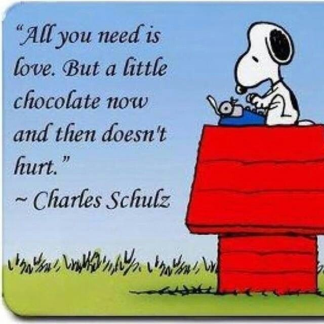 All You Need Is Love But A Little Chocolate Now And Then Doesn T