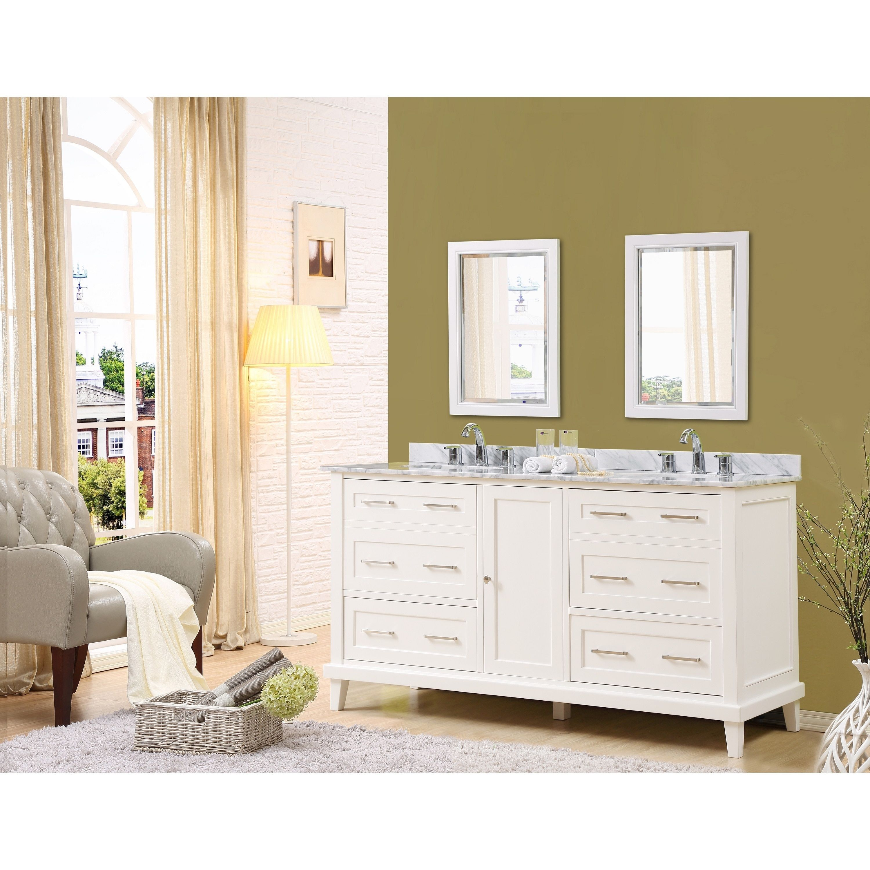 Direct Vanity Sink Winslow 70 inch White Vanity by Direct Vanity Sink