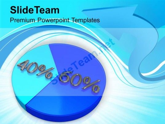 Pie Chart With 60 40 Percentage Marketing PowerPoint Templates PPT - pie chart templates