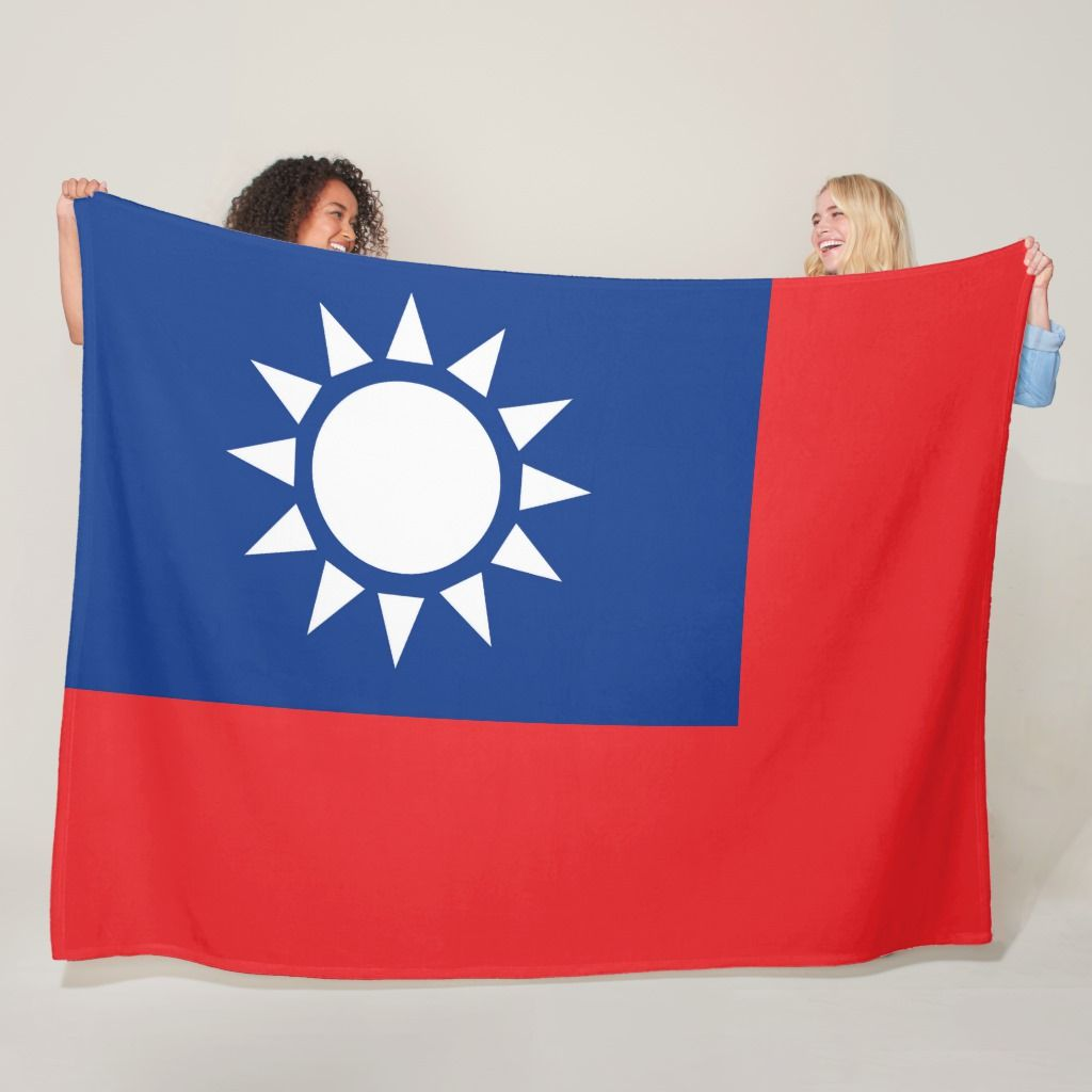 Flag Of Taiwan Republic Of China Large Fleece Blanket Zazzle Com In 2020 Fleece Blanket Taiwan Flag Fleece