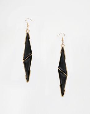 Paperdolls Enamel Triangle Drop Earrings