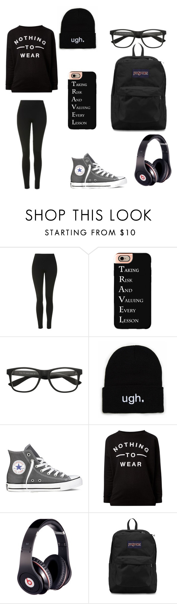 """""""Traveling"""" by darksoul7 on Polyvore featuring Topshop, Casetify, Converse, Beats by Dr. Dre and JanSport"""