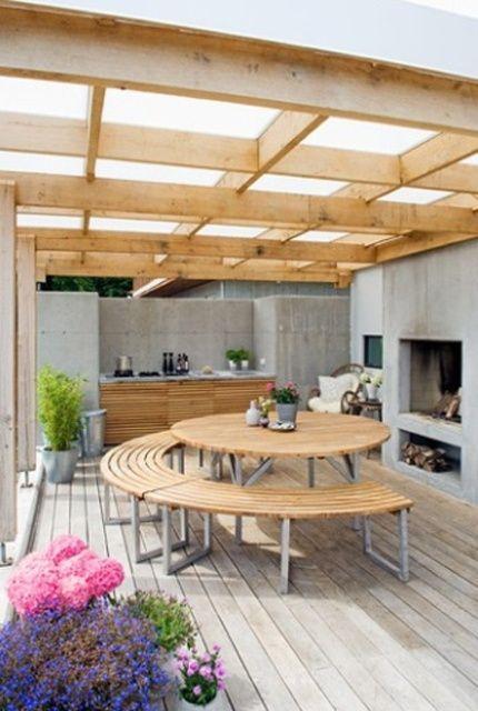 Terrazas y galerías de estilo escandinavo Terrace design, Wooden - Terrace Design