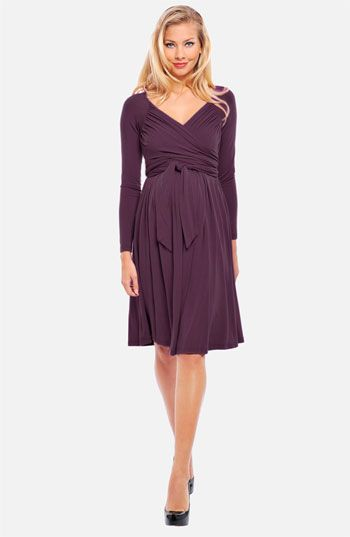 357ce98ef3dd4 Olian Maternity 'Lucy' Ruched Wrap Dress available at #Nordstrom ...