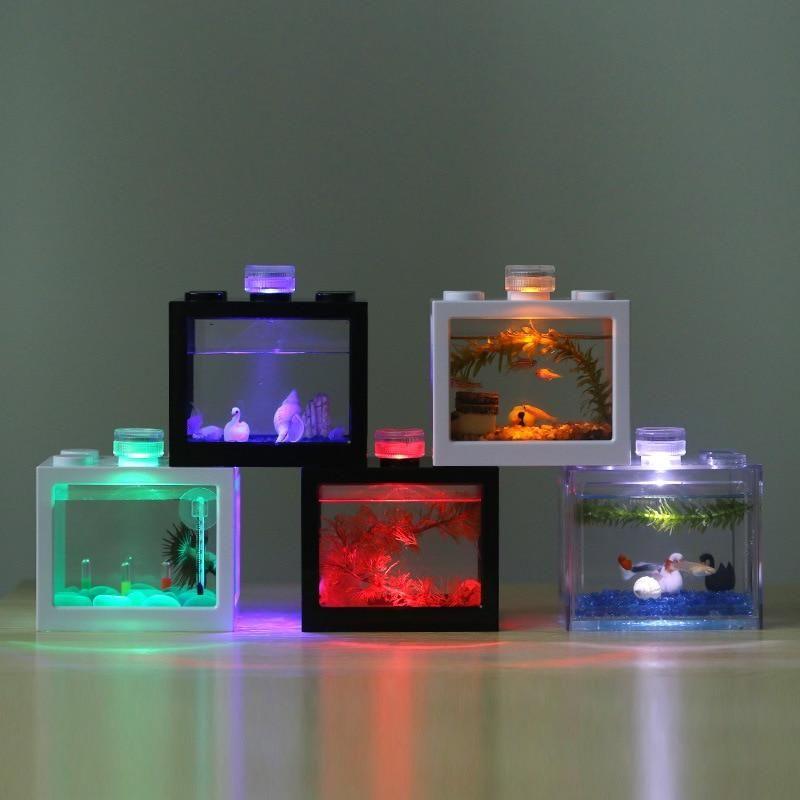 Waterproof Led Lamp Led Aquarium Light Round Shap Fish Tank Decoration Candle Lamp Plastic In 2020 Led Aquarium Lighting Fish Tank Decorations Fish Tank Lights