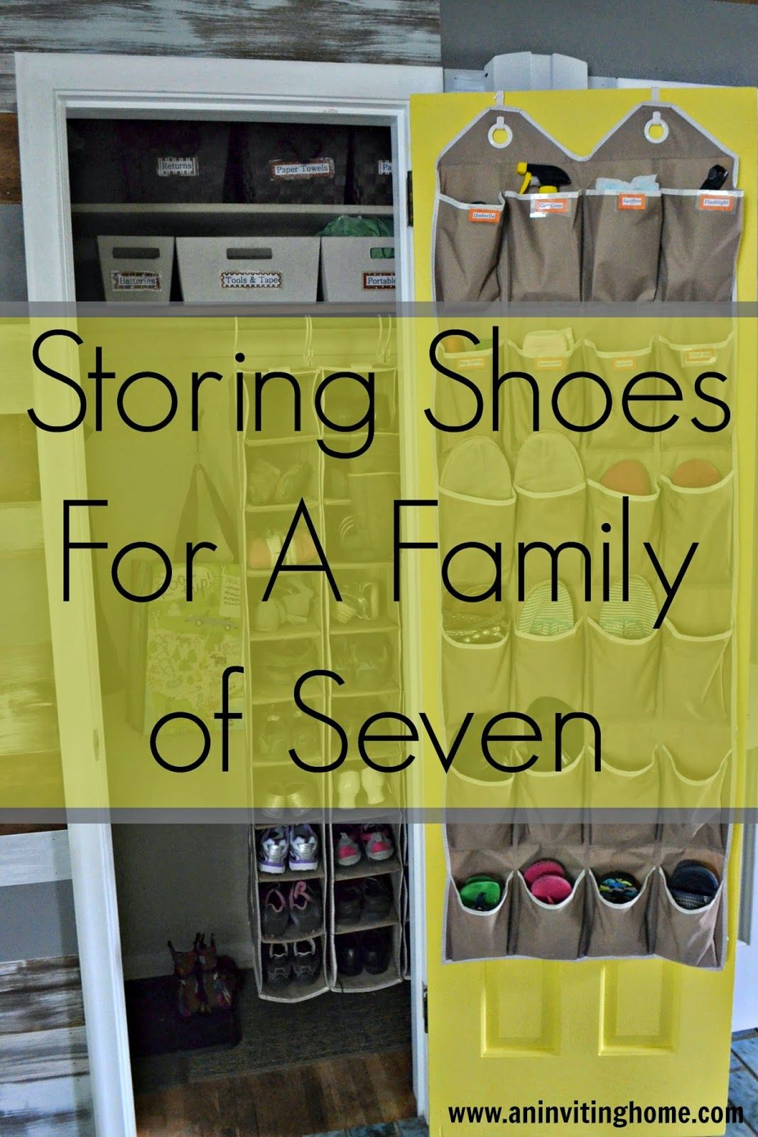Storing Shoes For A Family Of Seven Smallclosetstorage Nomudroom Govertical