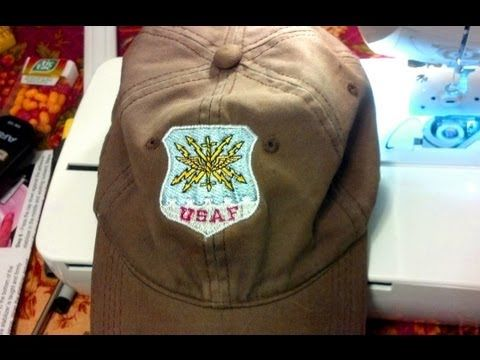 How to embroider a hat using single needle (Brothers PE770