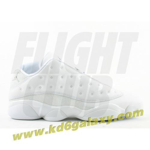 9ccb124e2265 Air Jordan 13 retro low white metallic silver midnight navy ice blue ...