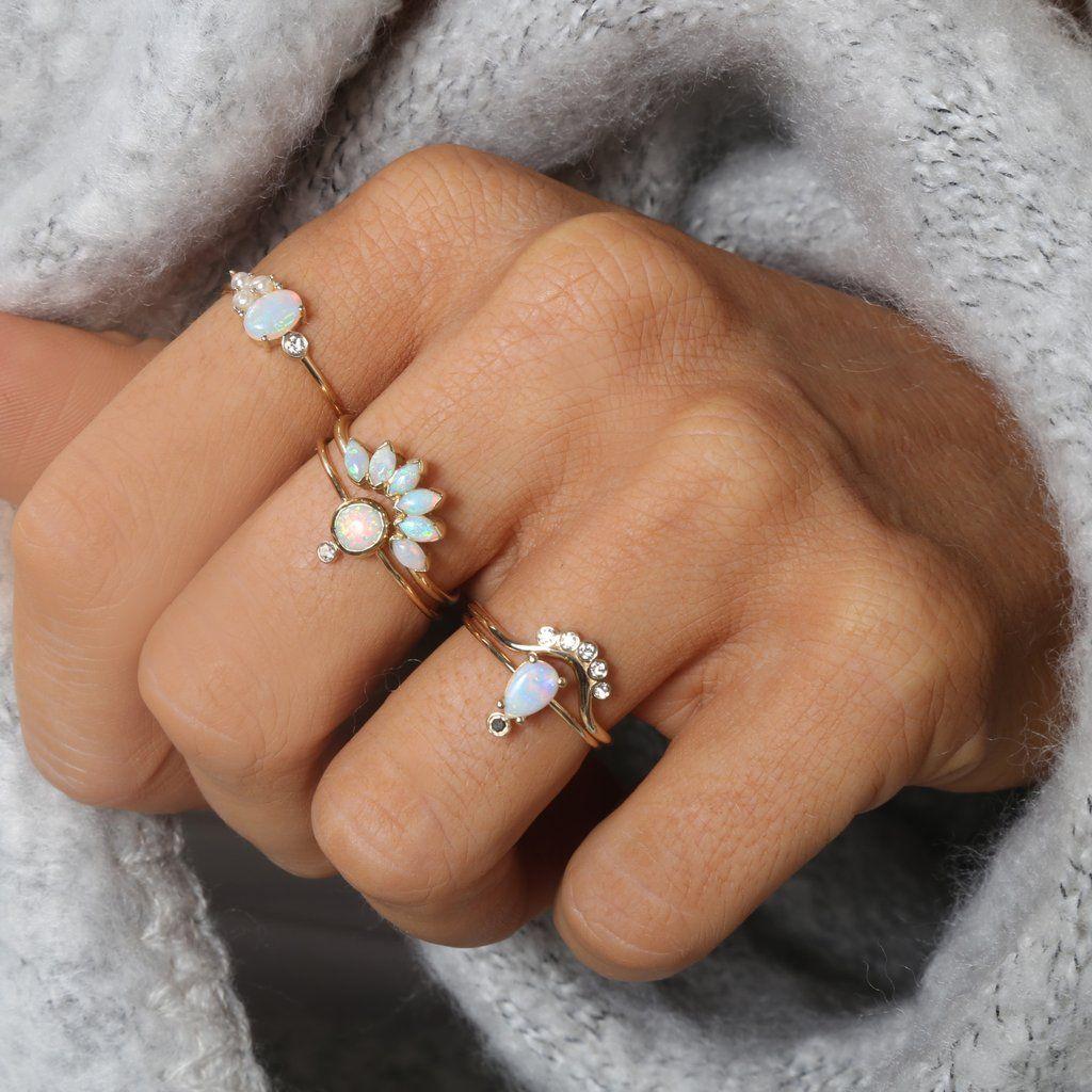 14kt Gold Opal Caribbean Sunrise Ring Vintage gold