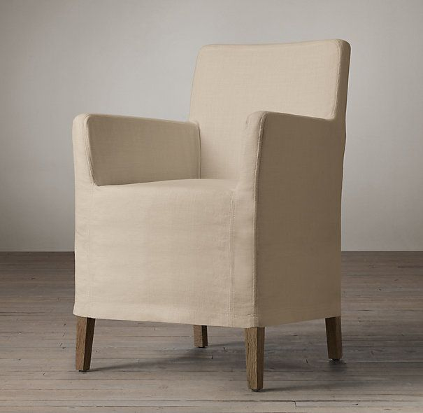 Charmant RHu0026 Parsons Slipcovered Short Skirt Armchair:A Design Standard Since The  The Parsons Chair Offers Significant Style In A Compact Silhouette.