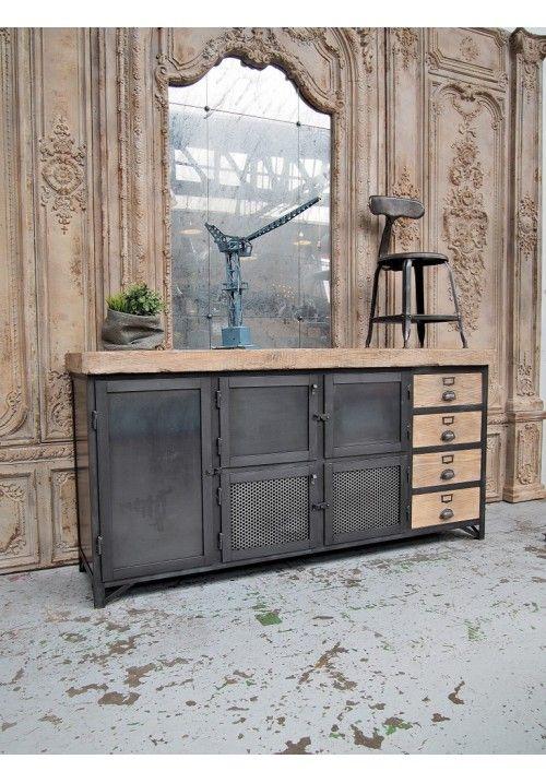 Exemple Fabrication meuble avec tiroirs bois Мебель лофт