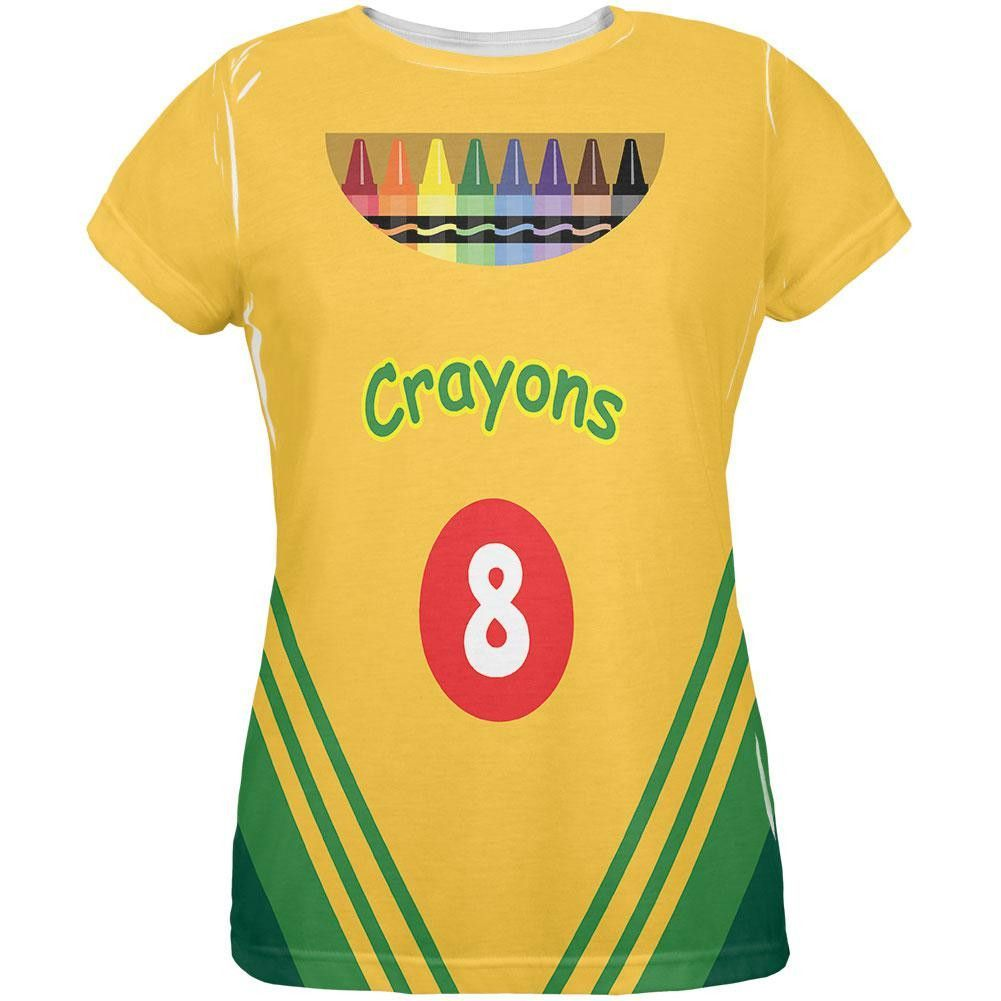 28f8d946 Halloween Crayon Box Costume All Over Ladies T-Shirt | Halloween ...