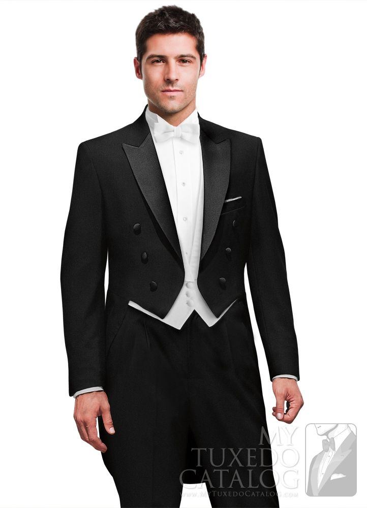 Black Peak Full Dress Tailcoat from http://www.mytuxedocatalog.com ...
