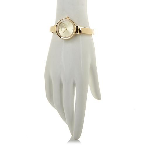 "R.J. Graziano ""Plush Life"" Cuff Bracelet Watch with Faux Fur Key Fob"