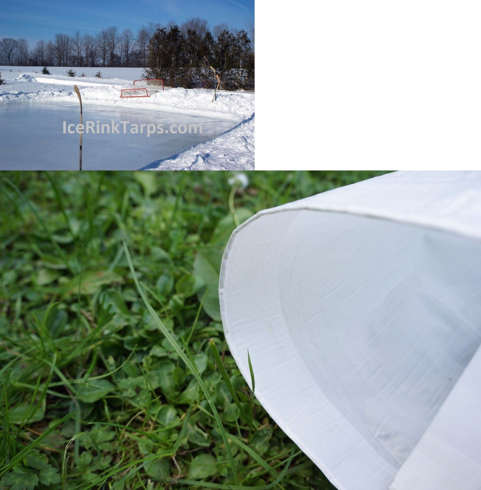 Other Ice And Roller Hockey 2911: Ice Rink Liner Medium Duty 45Ft X 65Ft  Backyard