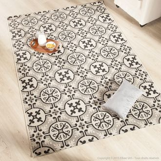 tapis 100 polypropyl ne effet sisal carreaux de ciment rosa carrelage de ciment pauline et. Black Bedroom Furniture Sets. Home Design Ideas
