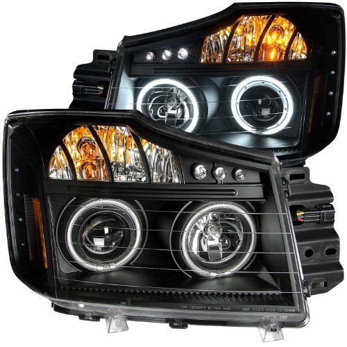 Anzousa 111178 Black Clear Amber Projector Halo Led Headlight For Nissan Titan Sold In Pairs By Anzousa Http Ww Projector Headlights Nissan Titan Nissan