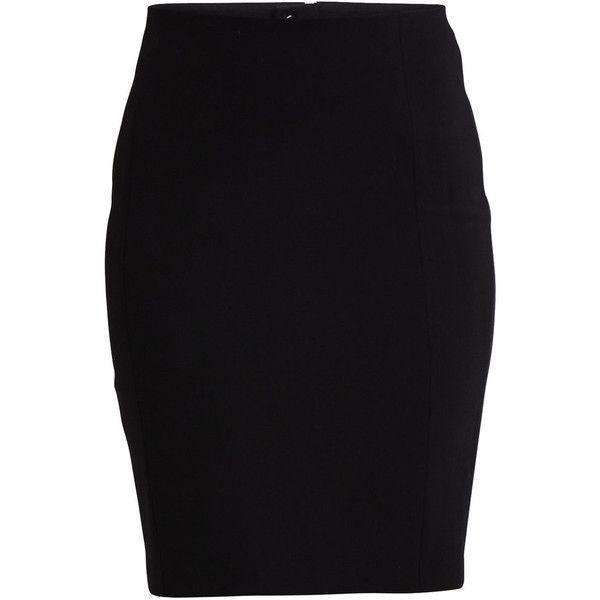 Vila Asmin - Skirt (103.885 COP) ❤ liked on Polyvore featuring skirts, bottoms, black, black skirt, black zipper skirt, zipper skirt, black pencil skirt and pencil skirt