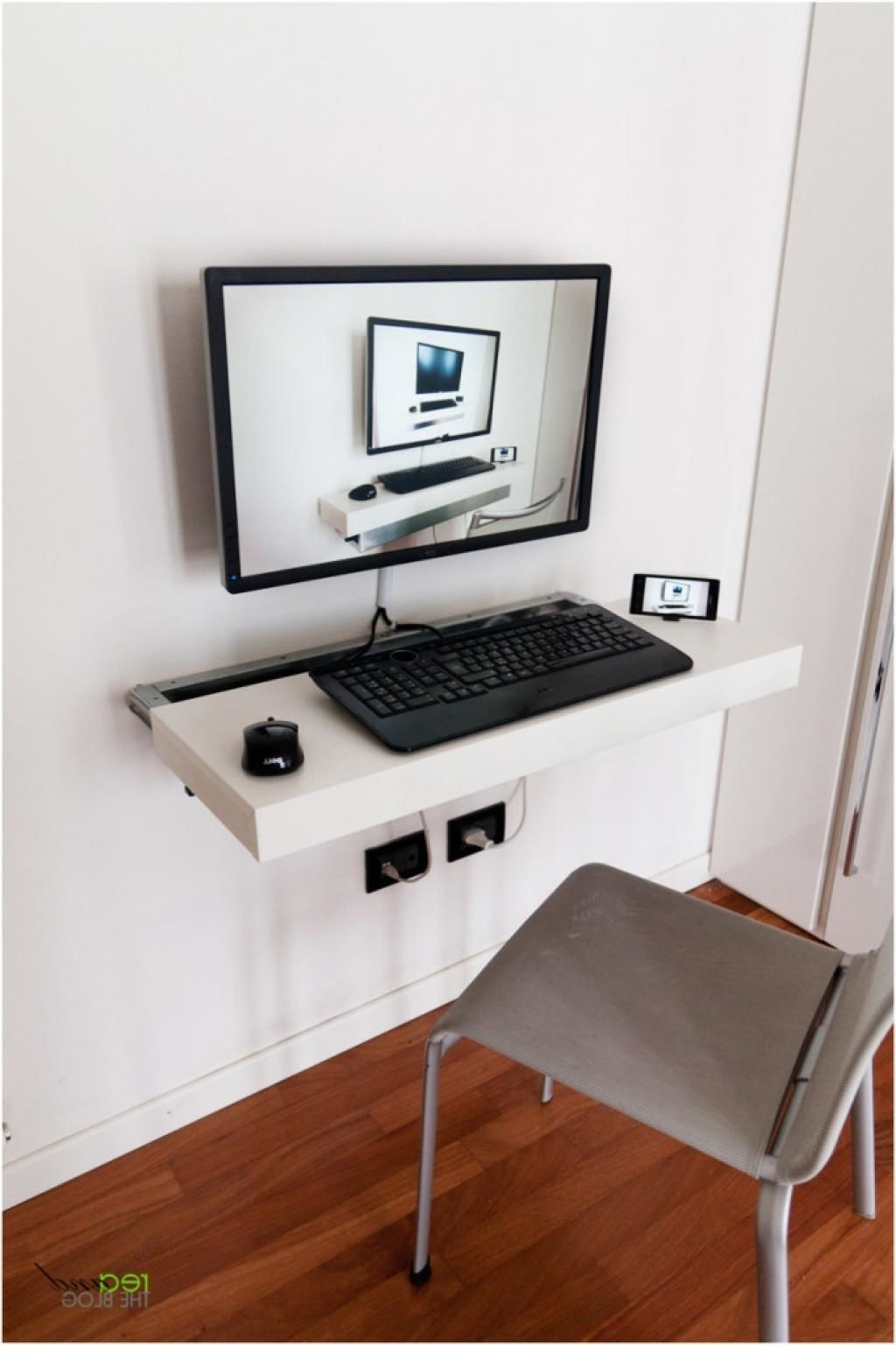Minimal Computer Desk Minimalist Computer Desk Disguised Regarding