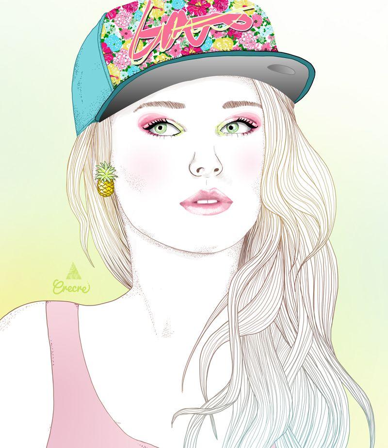 Beautiful girl drawing pinterest dessin visages et - Dessin de fille ...