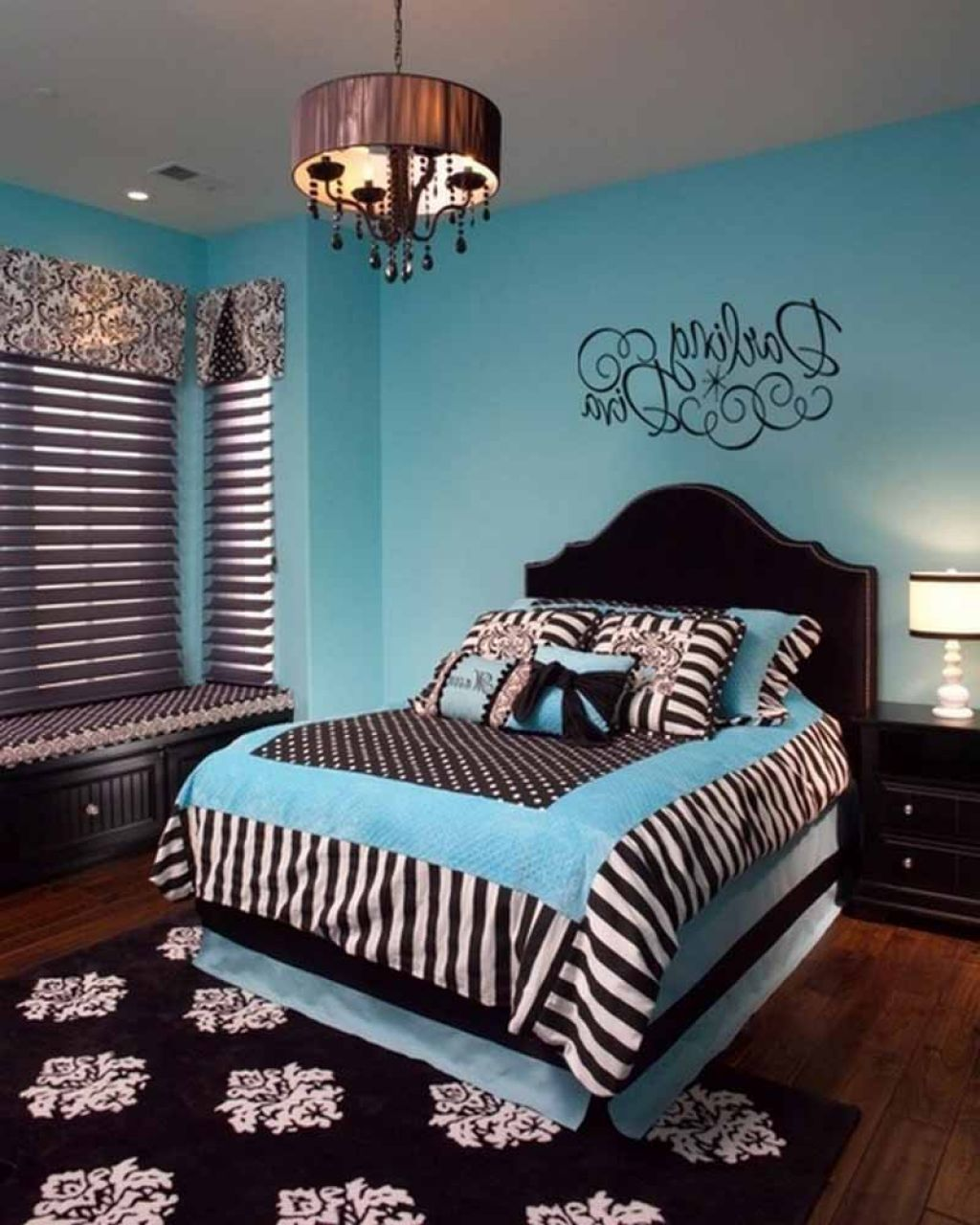 blue colorful teenage girl bedroom ideas - Blue Bedroom Ideas For Teenage Girls