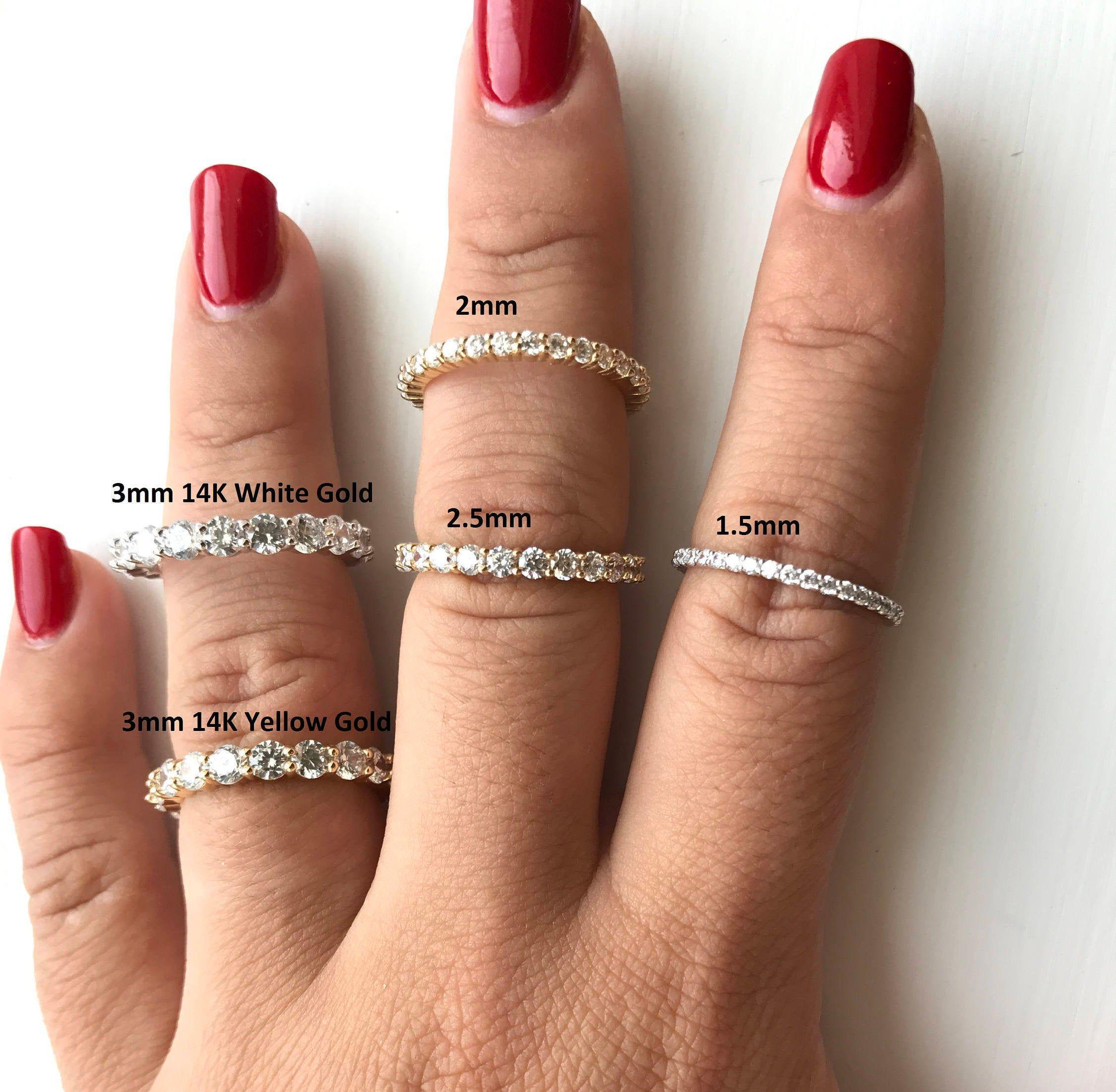Diamond Eternity Wedding Band for Her 14k Gold Diamonds   Etsy